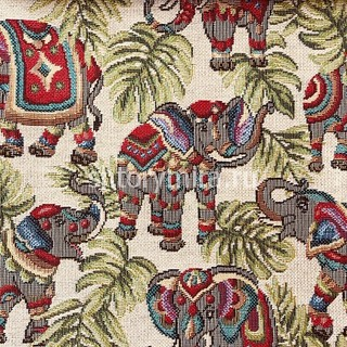 Ткань NEW ELEPHANTS BEIGE